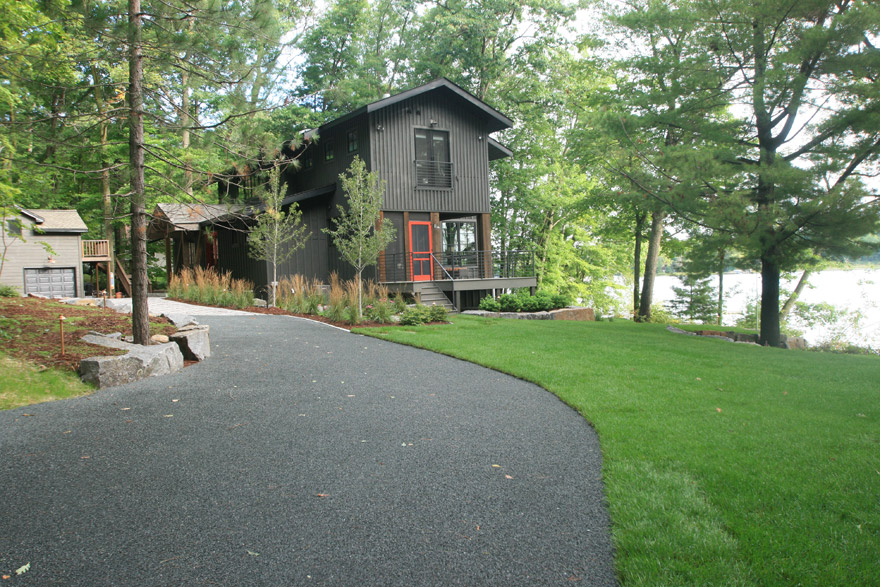 Modern Cabin in Cumberland WI with Fully Landscaped and Installed Driveway