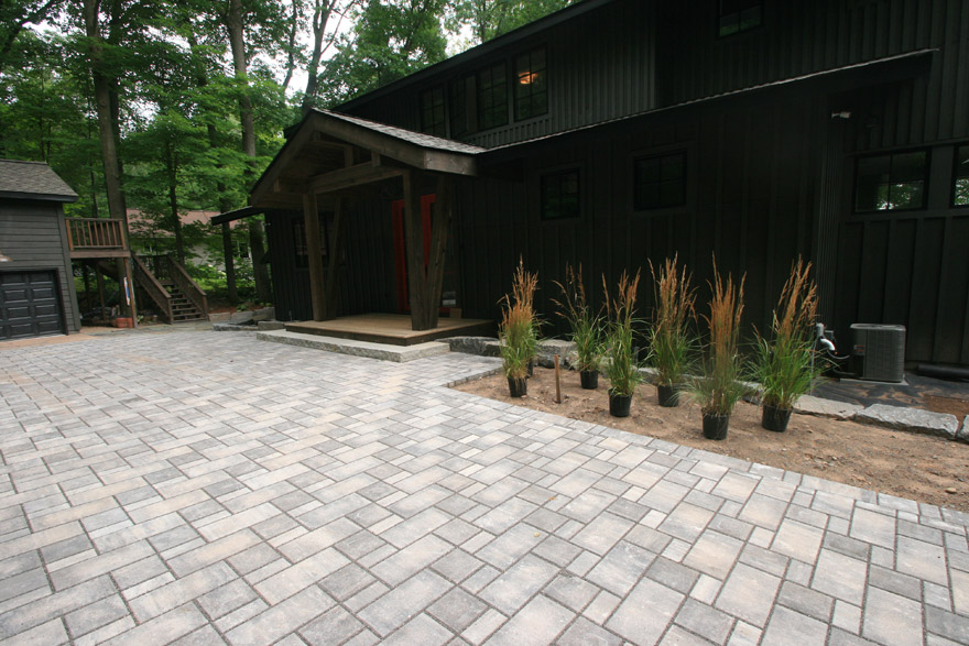Cumberland, WI Modern Cabin with Concrete Pavers