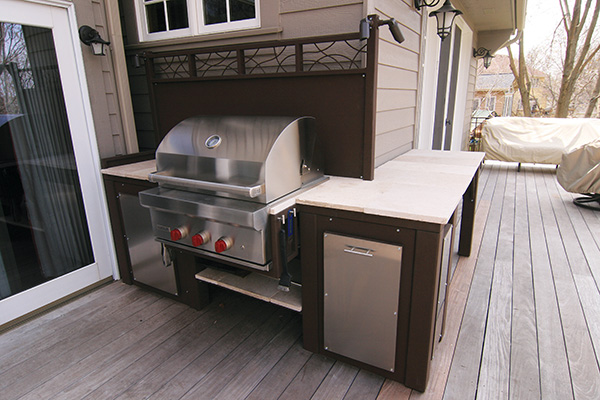 Yardscapes Custom Metal Outdoor Kitchen Eden Prairie Minnesota