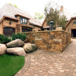 Wayzata Minnesota on Lake Minnetonka Paver Driveway and Boulder Outcroppings
