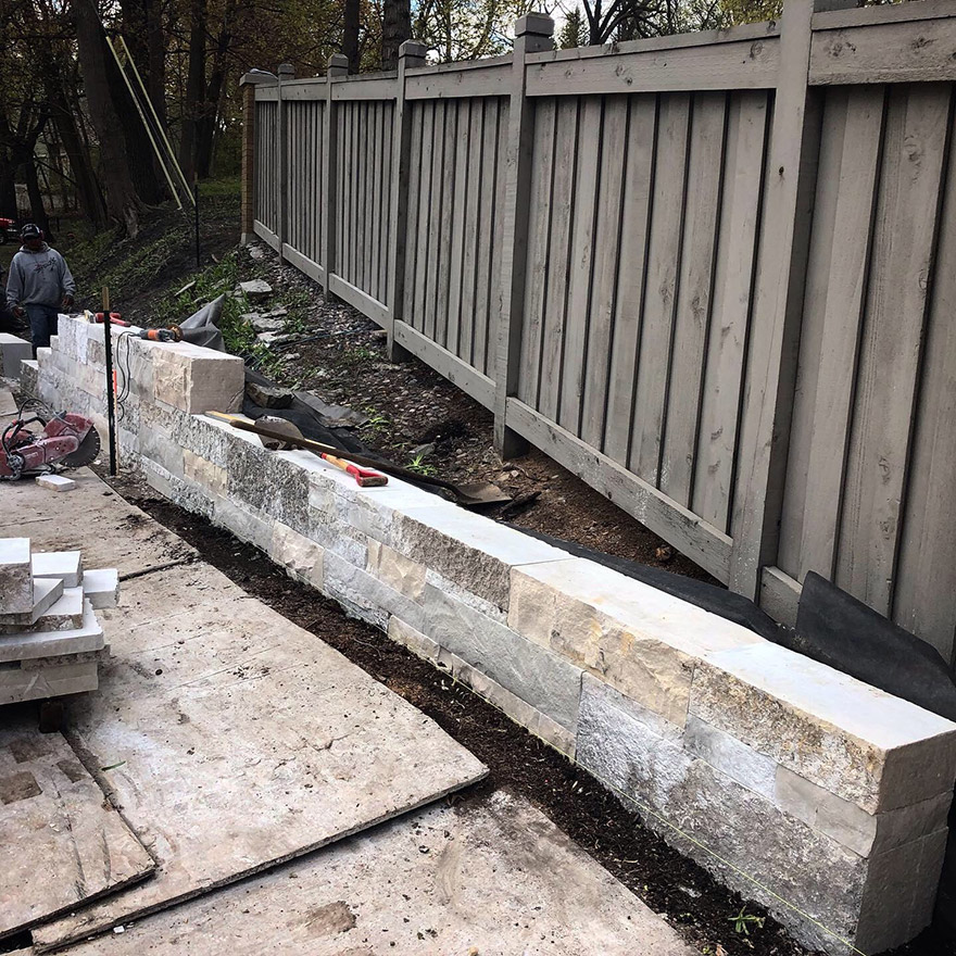 Building-the-Stone-Retaining-Wall