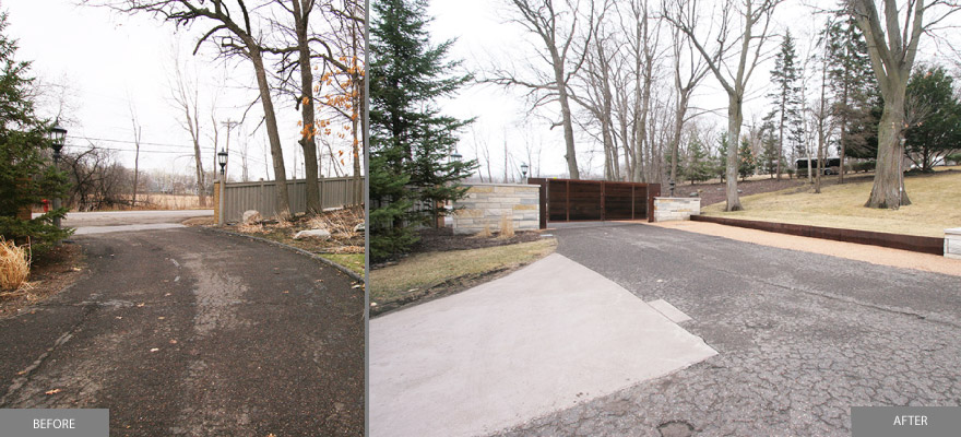 Custom metal and wood front entrance gate tonka bay minnesota