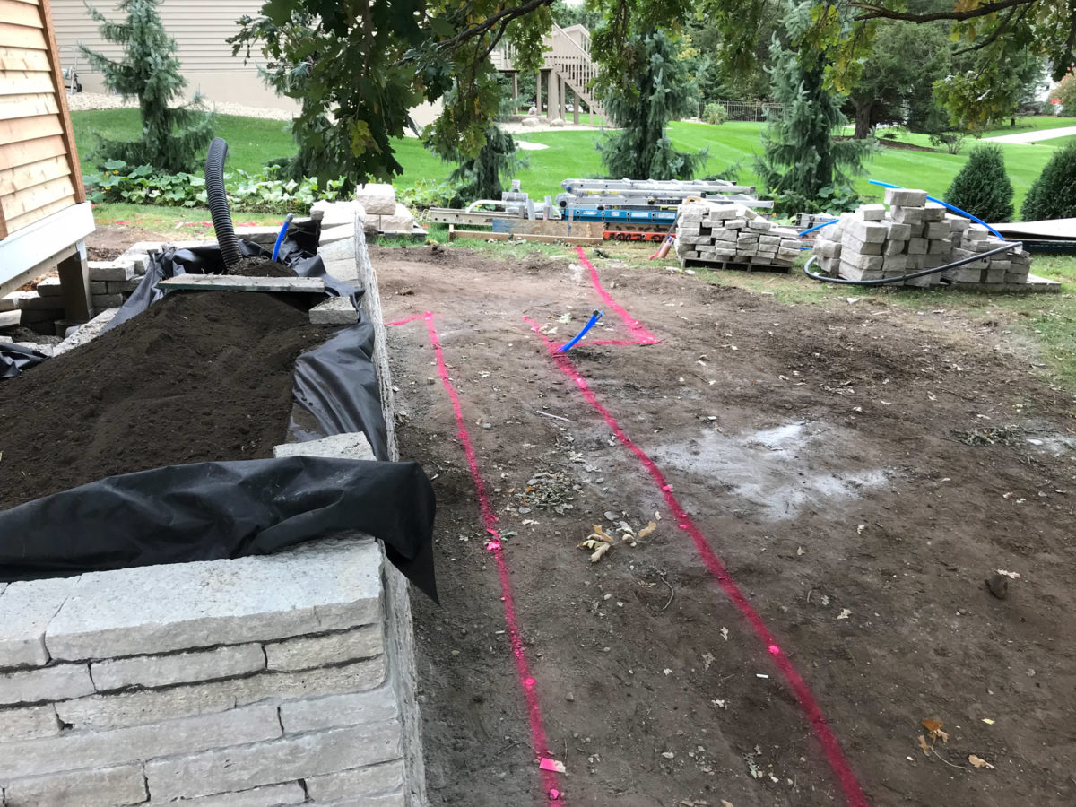 Path to Patio Excavation and Landscaping