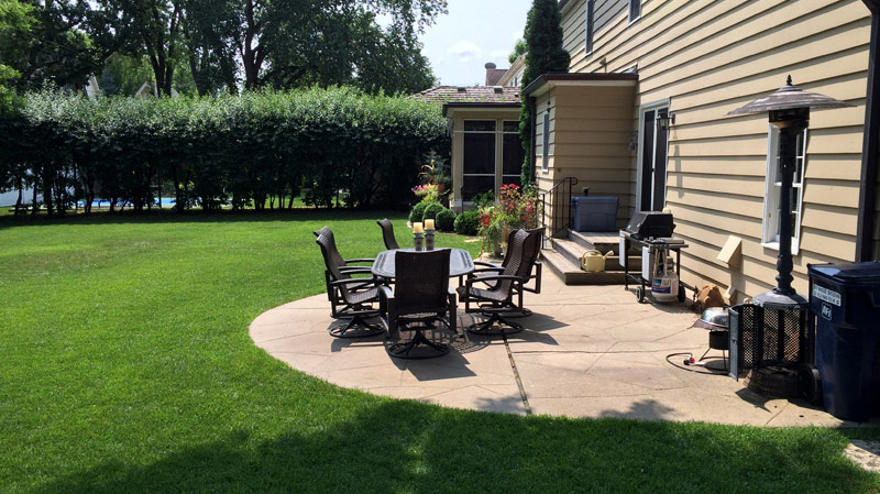 Backyard Patio Before Landscaping