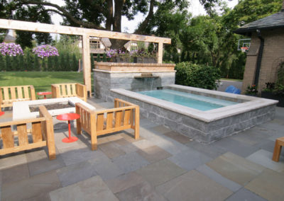 Custom Concrete Dipping Pool and Spa in Minneapolis, MN