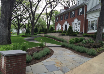 Bluestone Walkway with Limestone Walls in Edina, MN