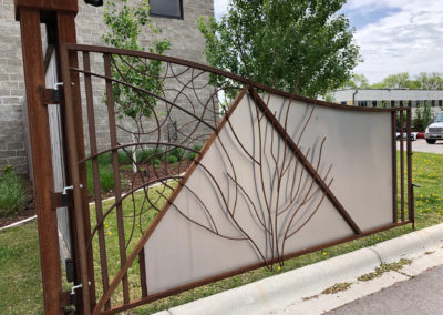 Custom Decorative Entrance Gate to Building