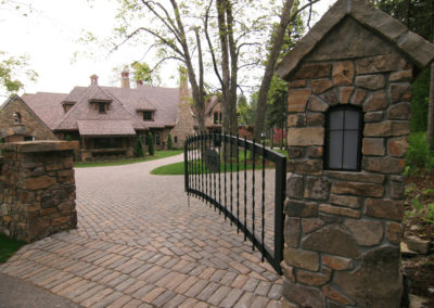 Custom Metal Driveway Entrance Gate