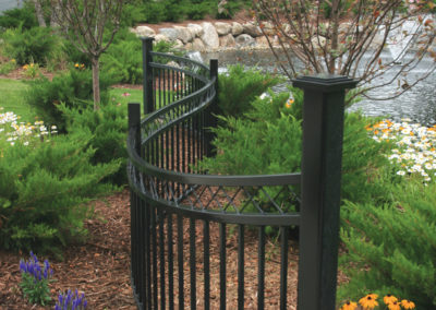 Custom Curved Fence Section at Office Complex