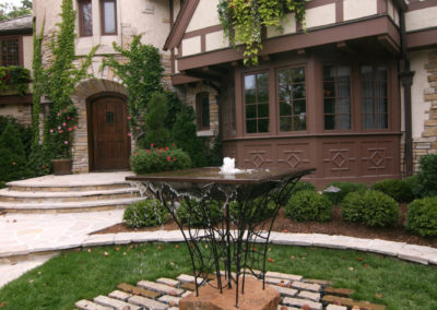 Custom Front Entry Water Feature