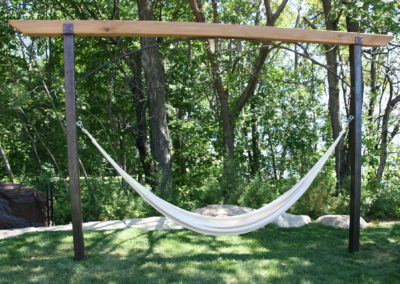 Custom Metal and Wood Hammock Stand