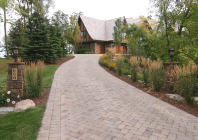 Herringbone Paver Driveway with Apron