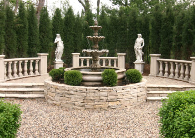 Elegant Classical Water Feature and Sculptures