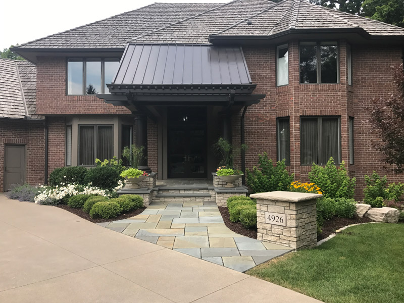 Front Entry After New Metal Roofing and Entry Path