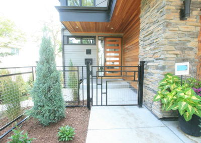 Custom Metal Fence and Gate Front Entry