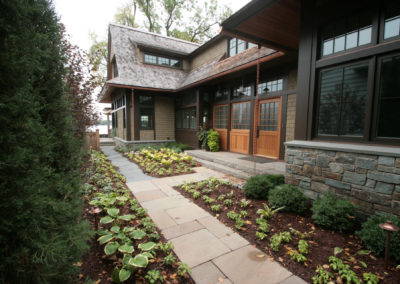 Asian Inspired Cottage on Lake Minnetonka with Bluestone Walkway and Front Stoop