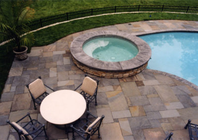 Custom Pool and Spa with Bluestone Patio