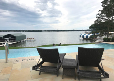 Custom Vanishing Edge Pool and Travertine Patio on Lake Minnetonka, MN