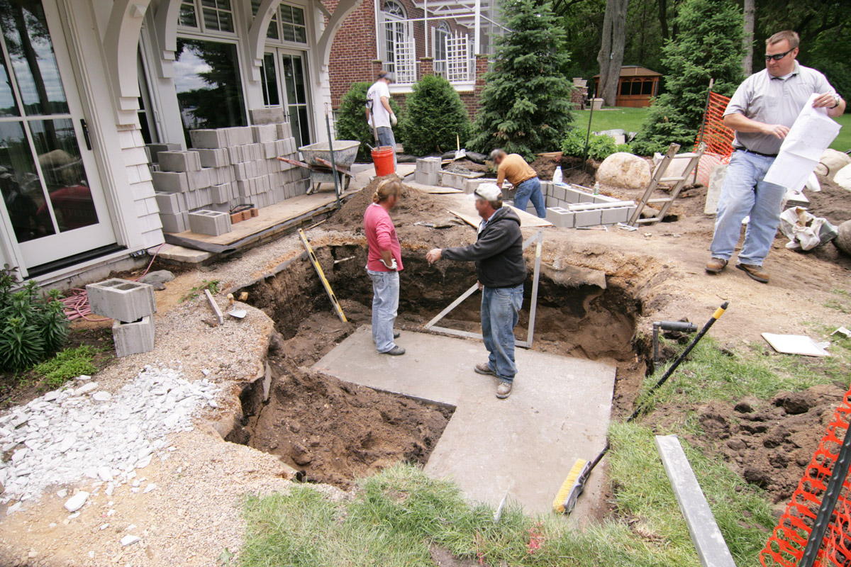 Lake-Minnetonka-Home-Outdoor-Kitchen-and-Fire pit-Preparation-for-Frost-Footings