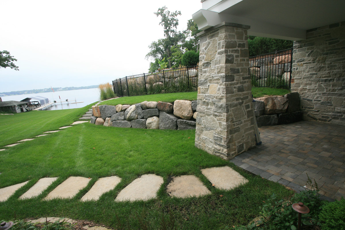 The ins and outs of natural stone retaining walls