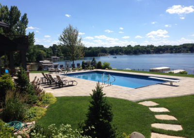 Paver Patio Around a Vinyl Pool Overlooking Prior Lake, MN