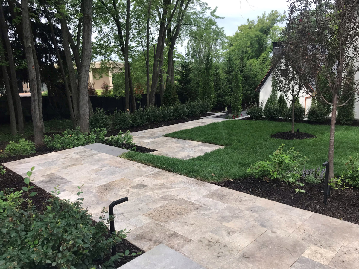 Orono Side Yard Walkway and Landscaping