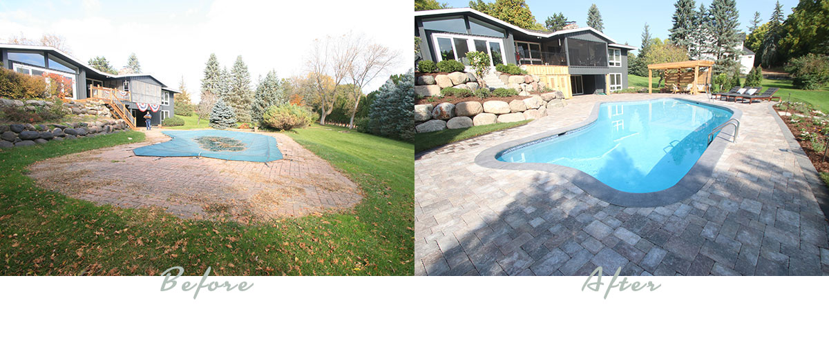Orono-Minnesota-Concrete-Pool-Remodel Before and After