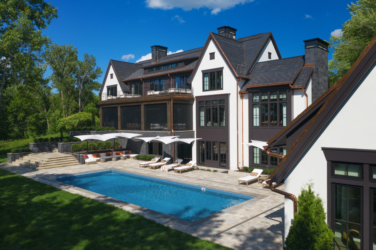 Orono, MN Custom Home Landscaping and Pool