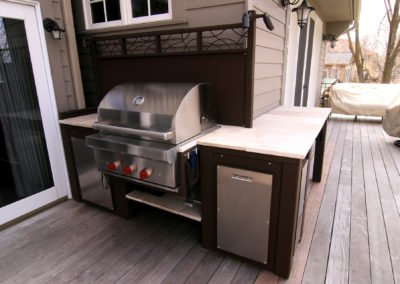 Outdoor Grilling Station with Lighting