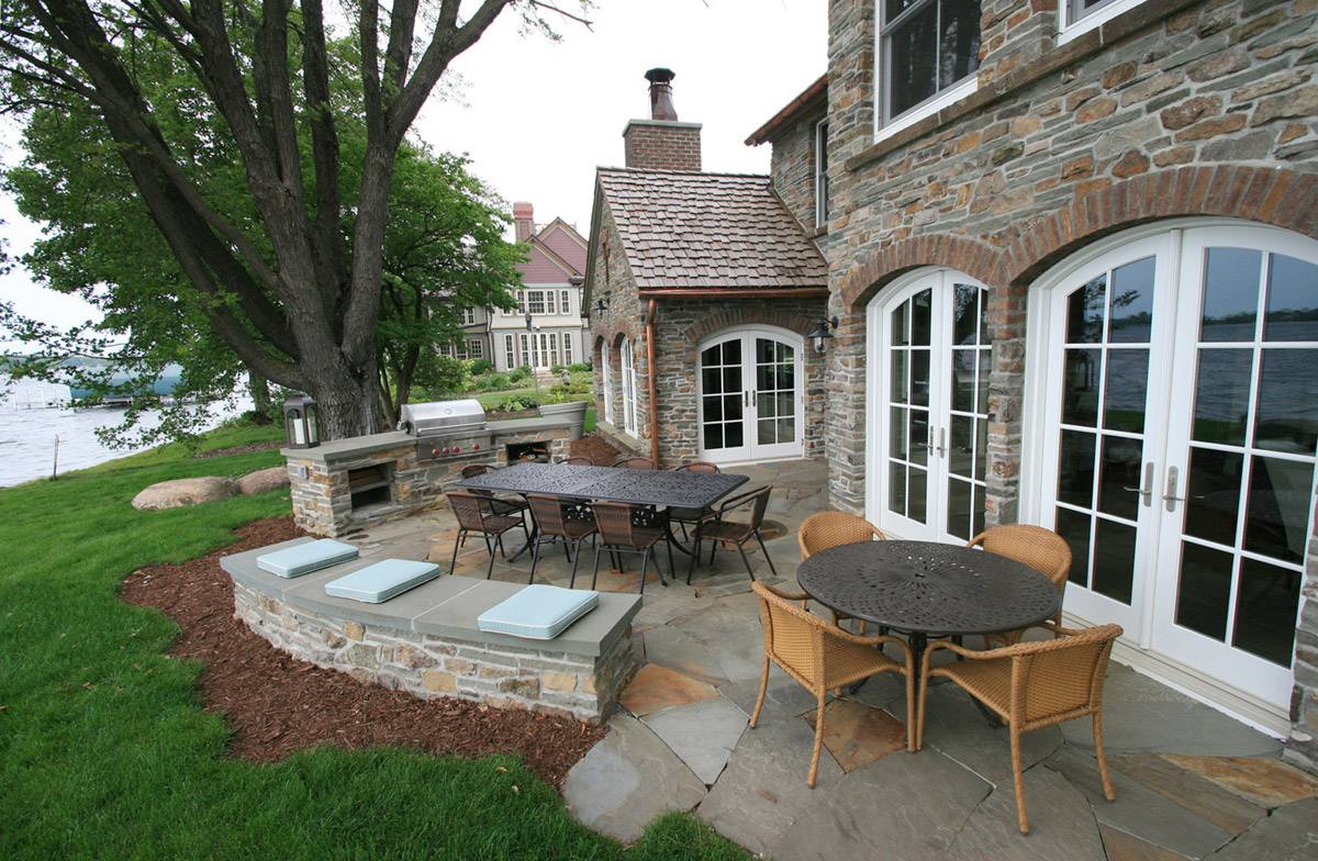 Outdoor Kitchen at Irish Cottage on Lake Minnetonka