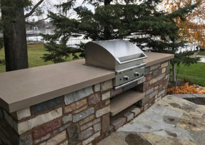 Stone Outdoor Kitchen in Tonka Bay, MN