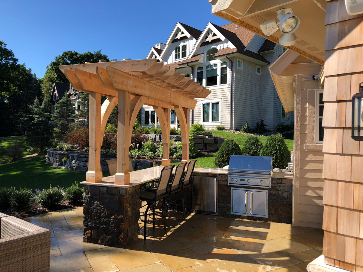 Outdoor Kitchen and Bar Seating in Edina, MN