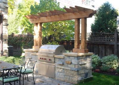 Irregular Limestone Outdoor Kitchen and Prep Space in Edina, MN