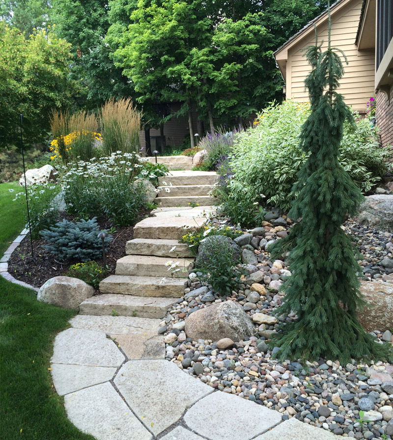 Side Staircase After Yardscapes