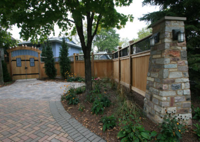 Cedar Fence and Gate with Custom Metal Details